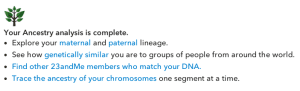 What you can do at 23andme